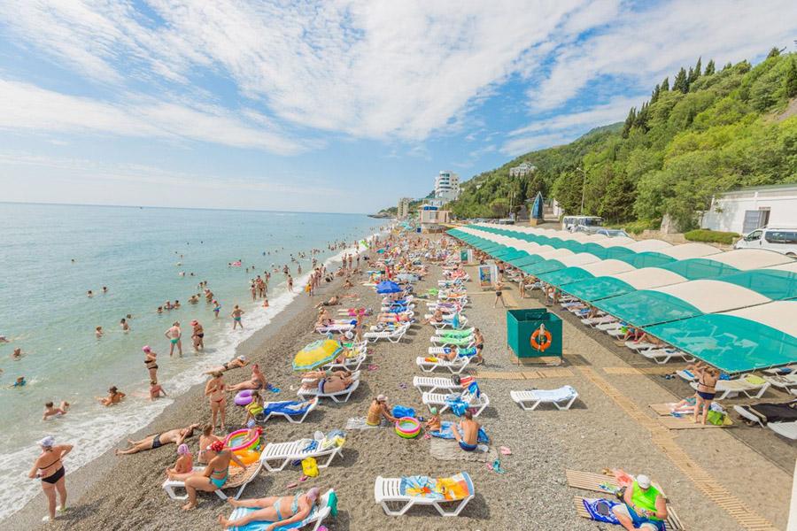 Отдых в Крыму в Алуште – фото пляжей